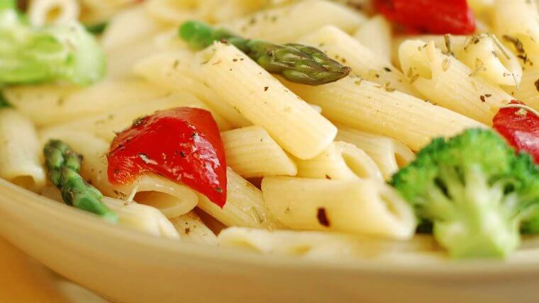 Pasta with Spring Vegetables - Wozupi Tribal Gardens