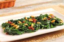 Sauteed Greens with Pine Nuts and Raisins