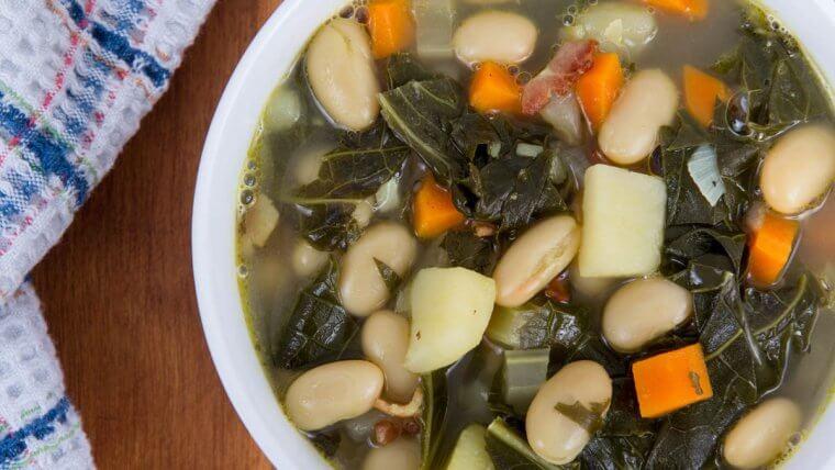 White Bean, Kale & Bacon Stew