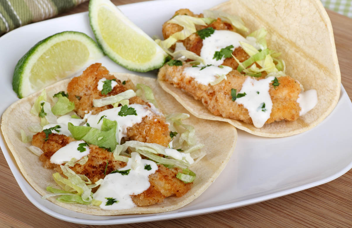 Amazing fish taco sauce recipe wozupi tribal gardens for What kind of fish for fish tacos