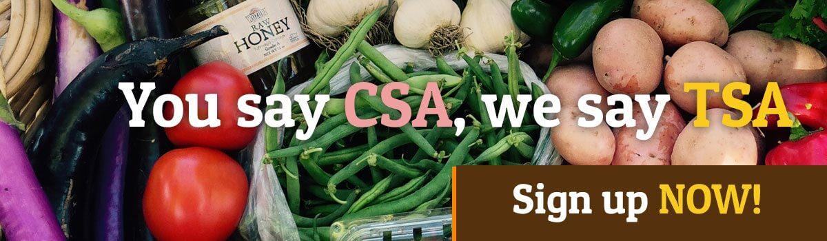 Summer TSA Share. Eat Local. Eat Fresh.
