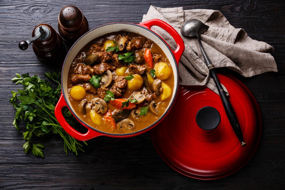 harvest stew smoked sausage