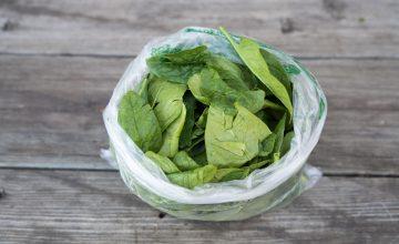 bag of bulk spinach