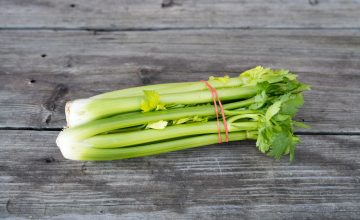 Bunched celery hearts